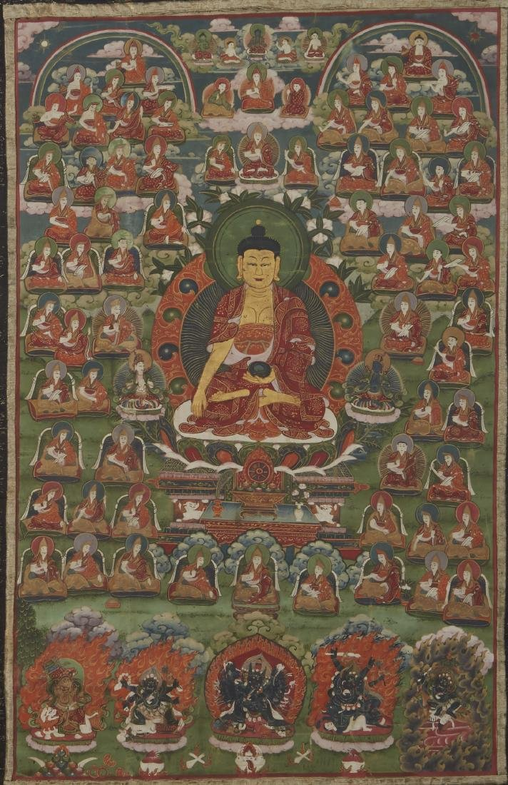Tibetan Thangka Shakyamuni