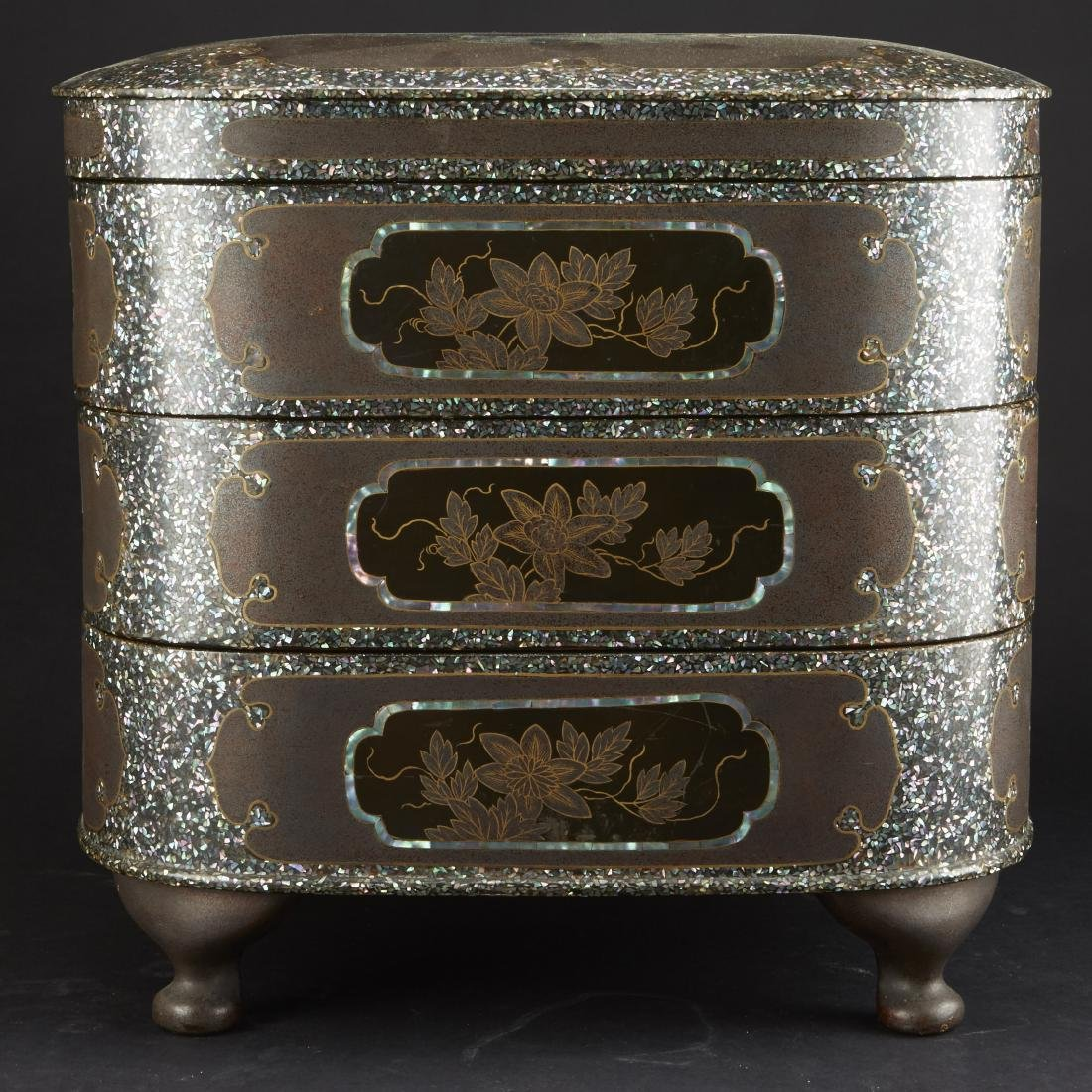 Carved and Lacquered Japanese Hibachi along with other - 10