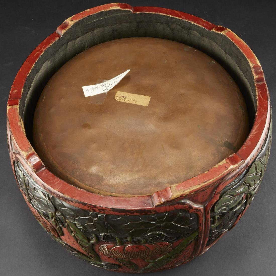 Carved and Lacquered Japanese Hibachi along with other - 6