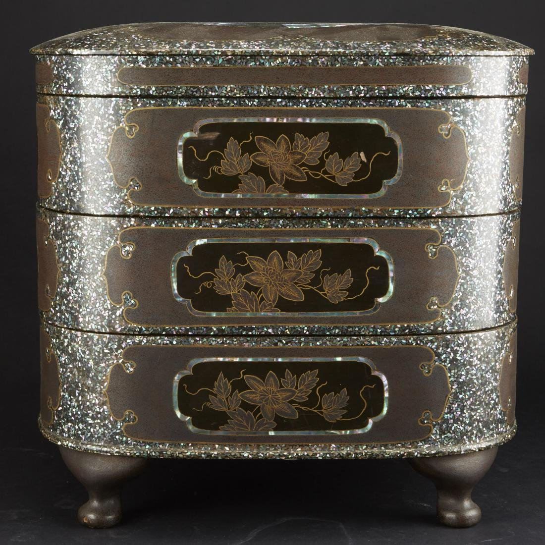 Carved and Lacquered Japanese Hibachi along with other - 8