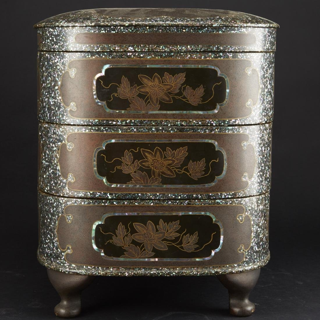 Carved and Lacquered Japanese Hibachi along with other - 9