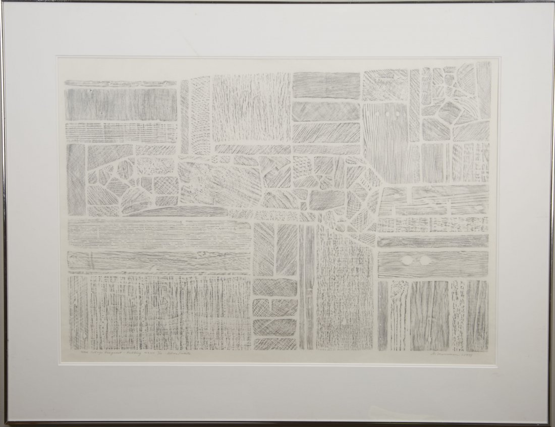 George Morrison Wood Collage Fragment-Rubbing MXVII