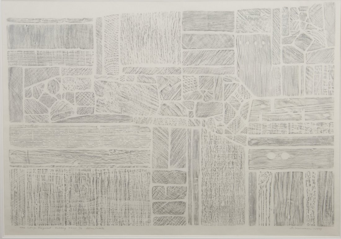 George Morrison Wood Collage Fragment-Rubbing MXVII - 2