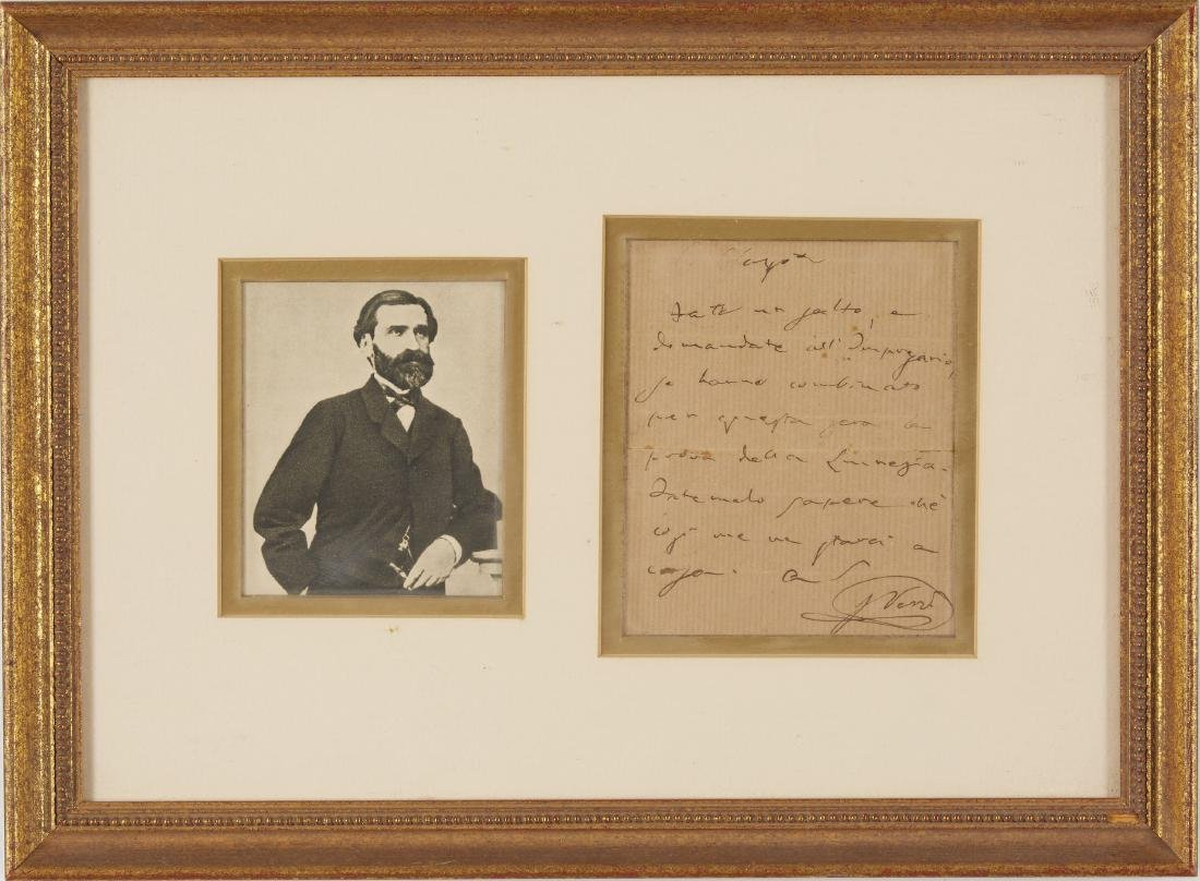 One Verdi Signed Letter