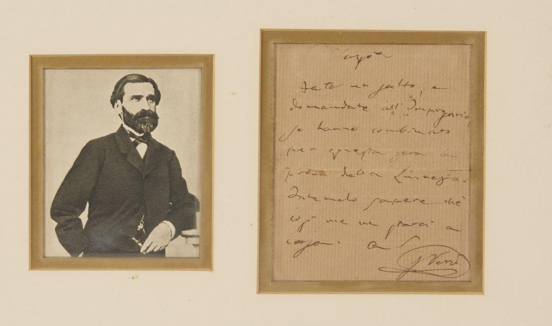 One Verdi Signed Letter - 2