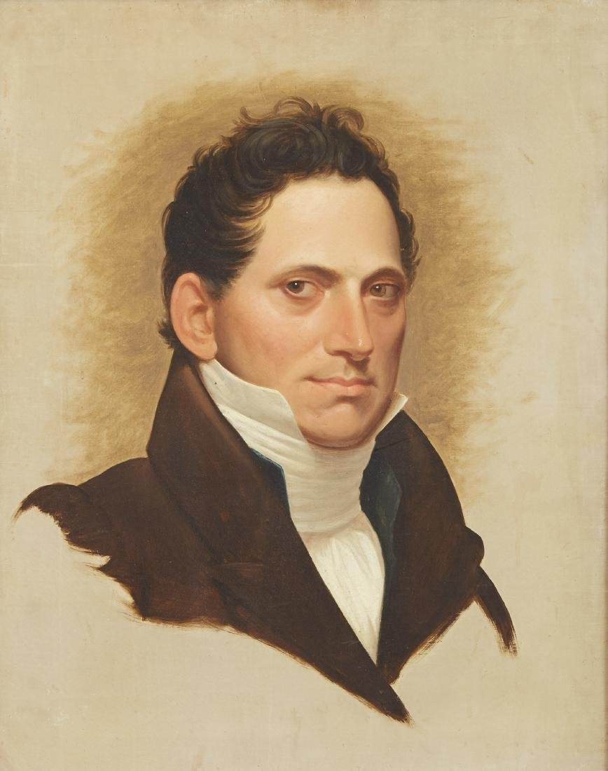19th Century American School Portrait of a Man