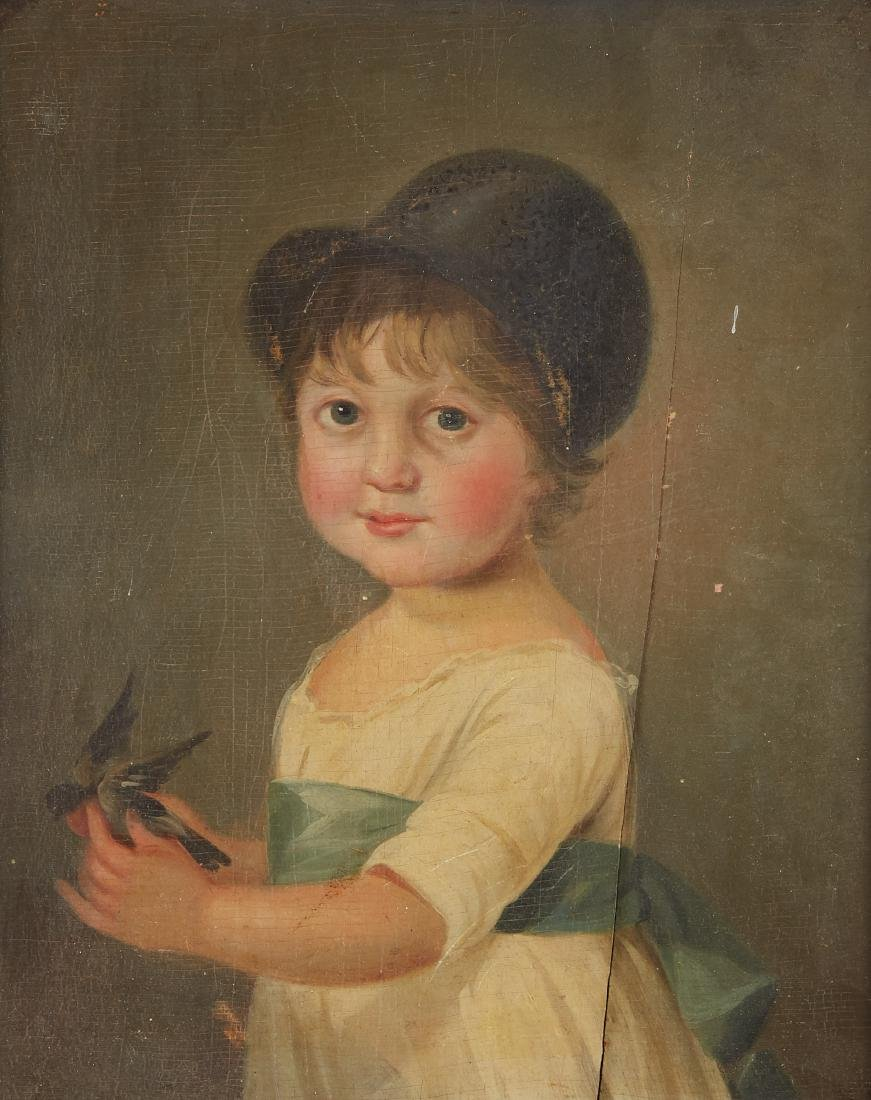 Group of 2 19th c. Paintings Unsigned American School