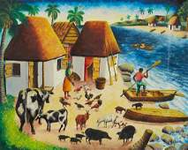 Andre Normil Haitian Oil Painting