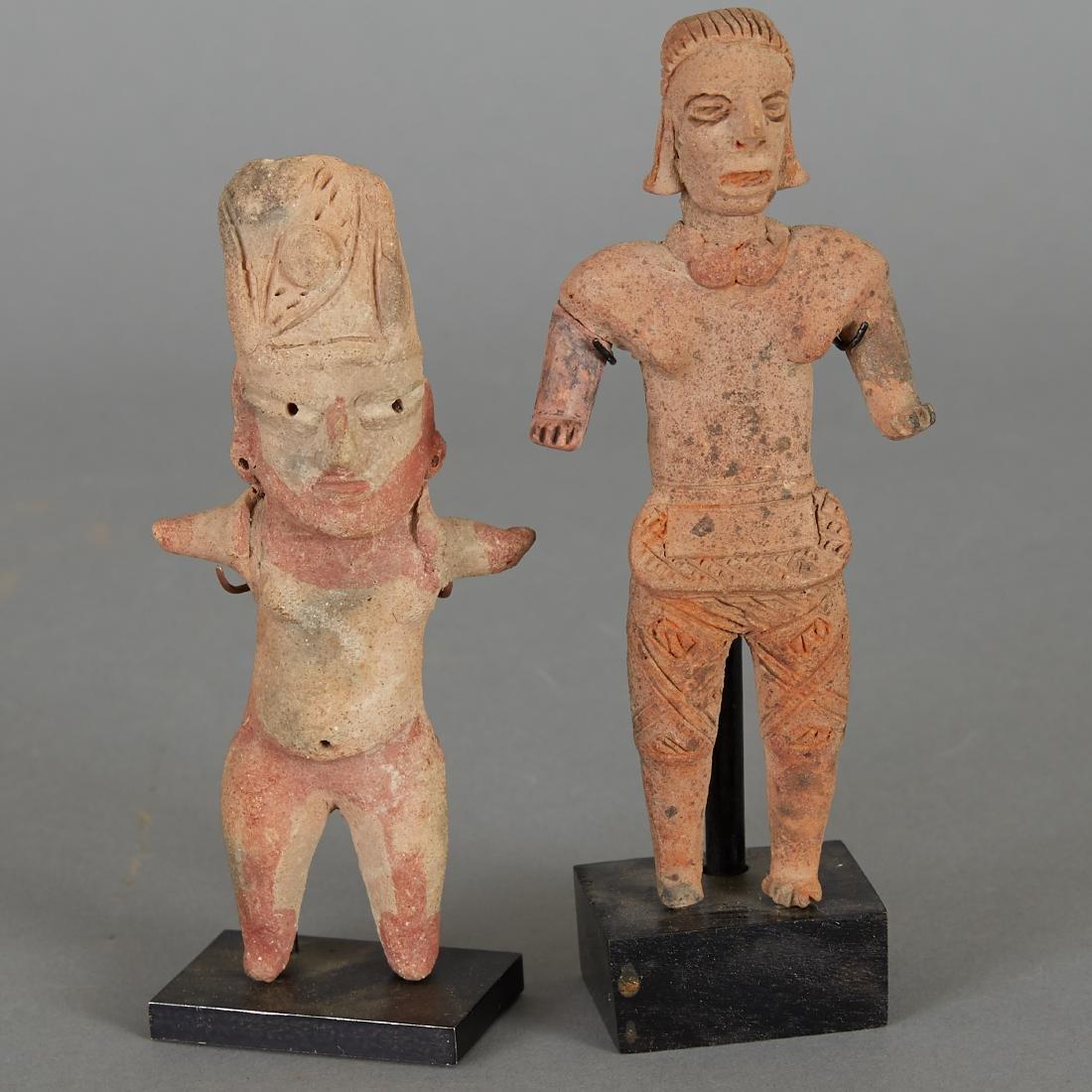 2 Pre-Columbian Female Figurines