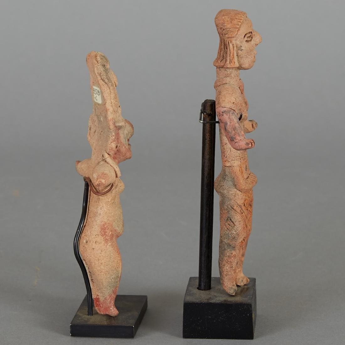 2 Pre-Columbian Female Figurines - 4