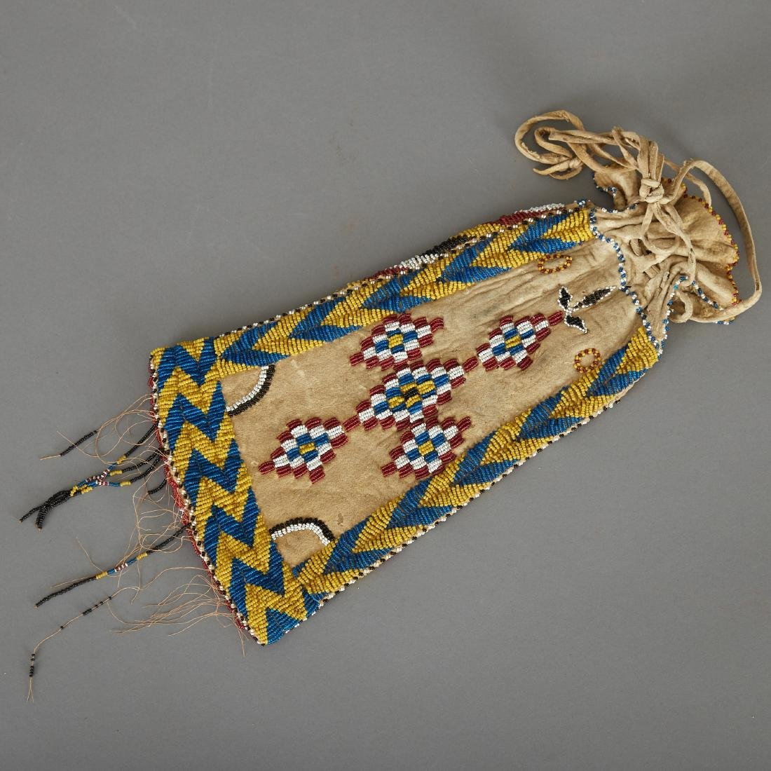 Apache Beaded Pipe Bag Early 20th c.