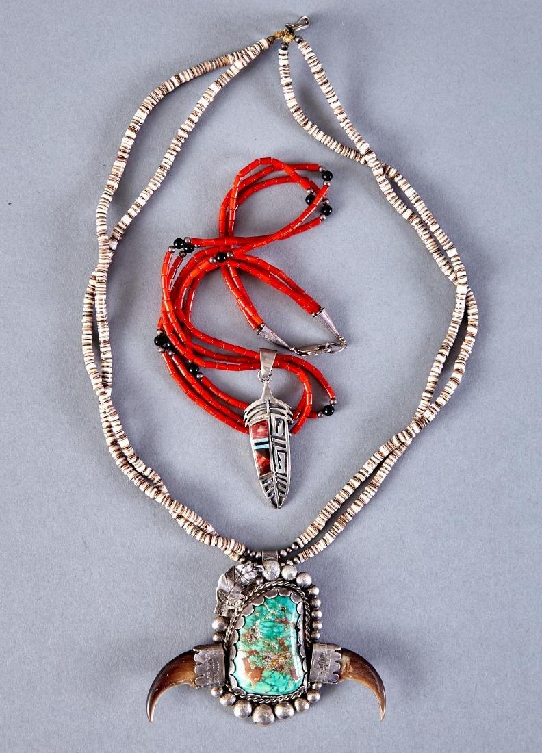 2 Native American Necklaces Navajo