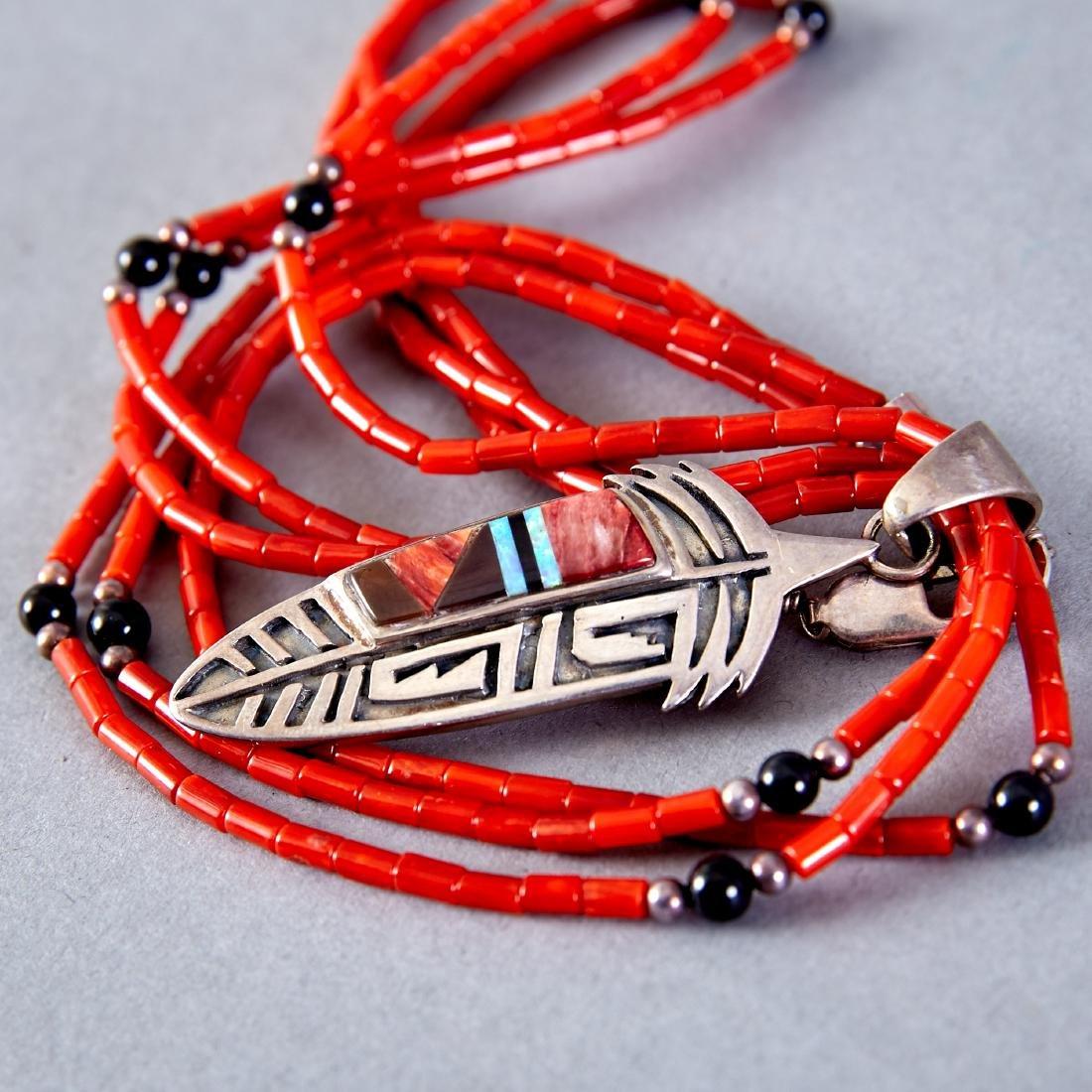 2 Native American Necklaces Navajo - 3