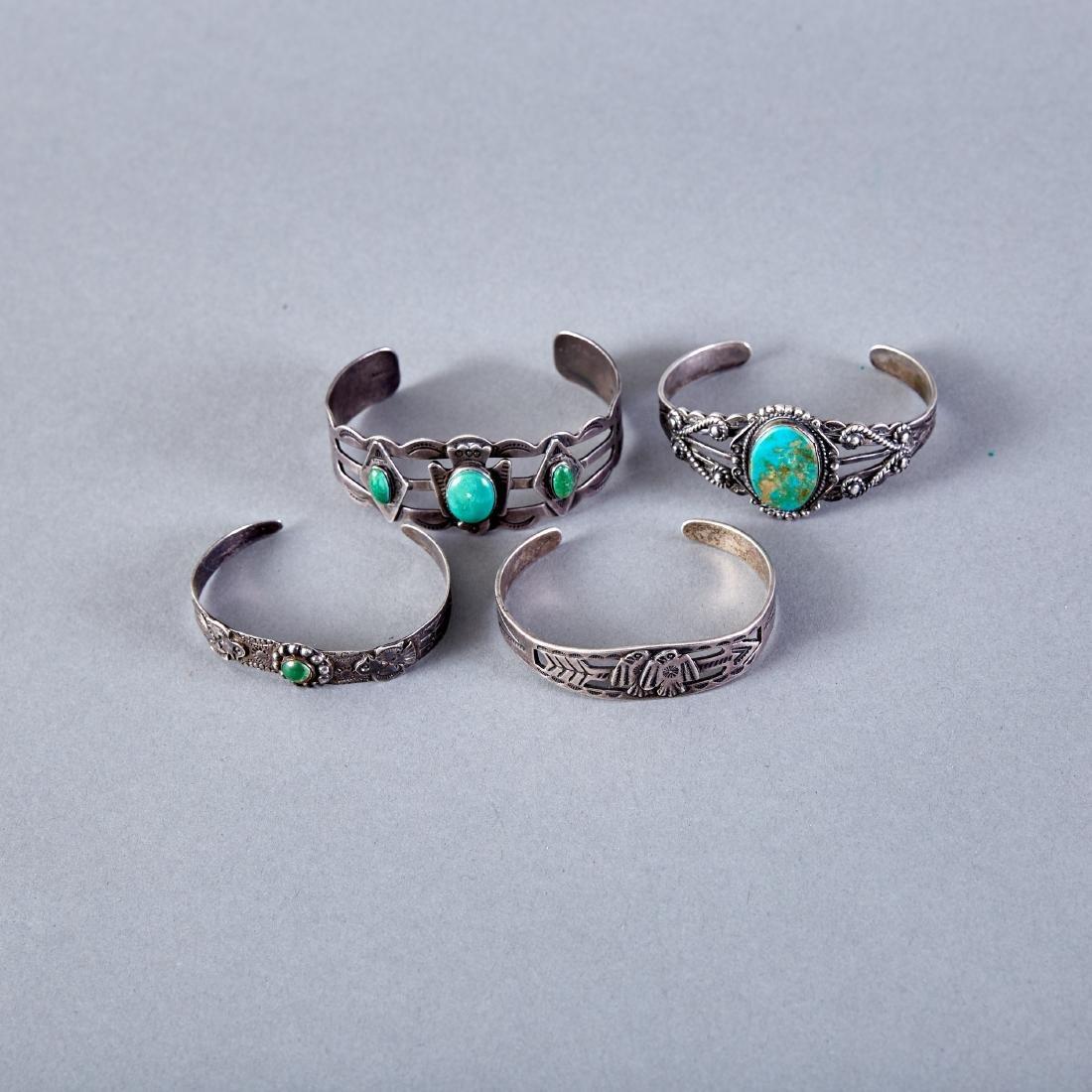 Group of 4 Fred Harvey Era Bracelets Navajo