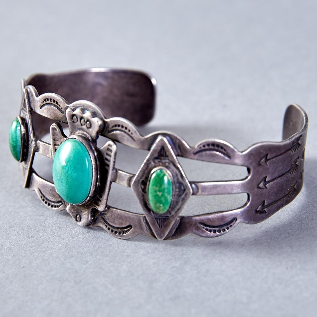 Group of 4 Fred Harvey Era Bracelets Navajo - 5