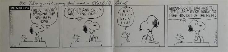 Charles Schulz Original Four-Panel Peanuts Comic
