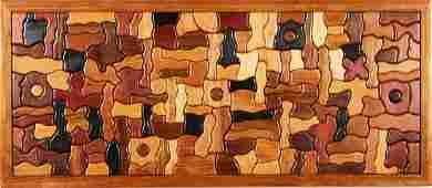 George Morrison Wood Collage