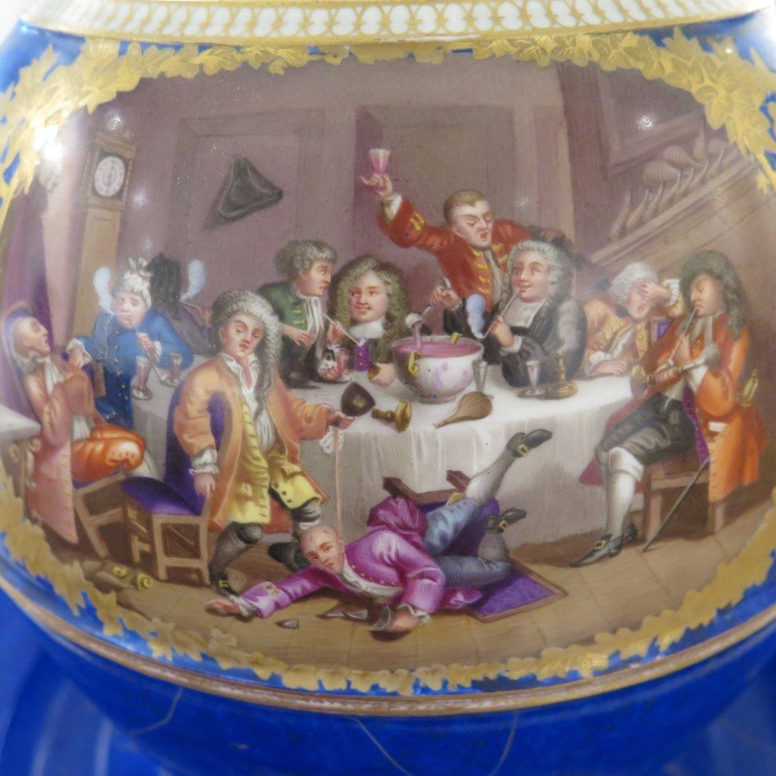 Meissen Porcelain Lidded Punch Bowl and Underplat - 8
