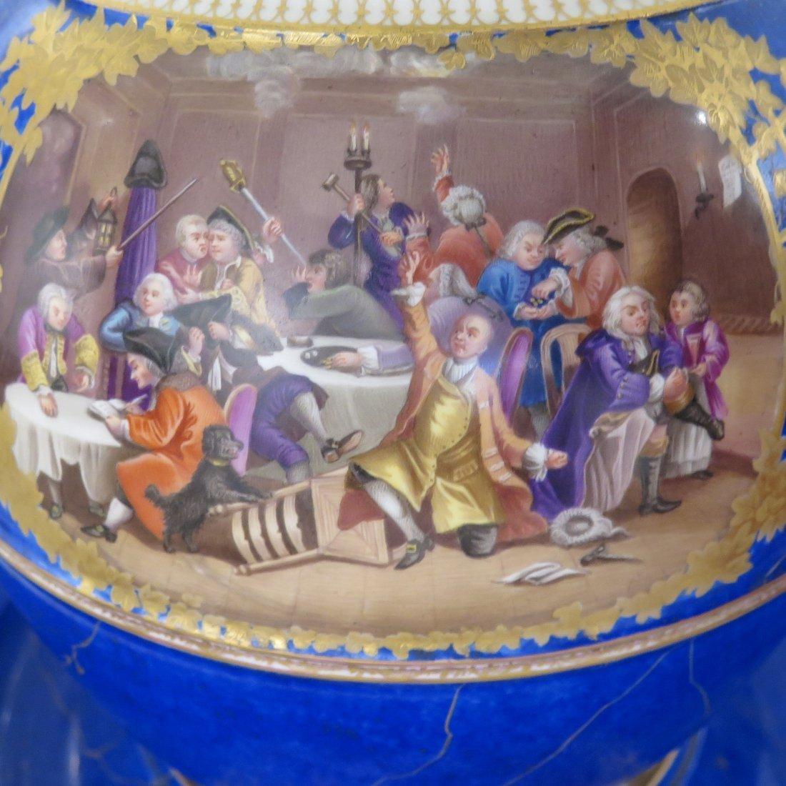 Meissen Porcelain Lidded Punch Bowl and Underplat - 9