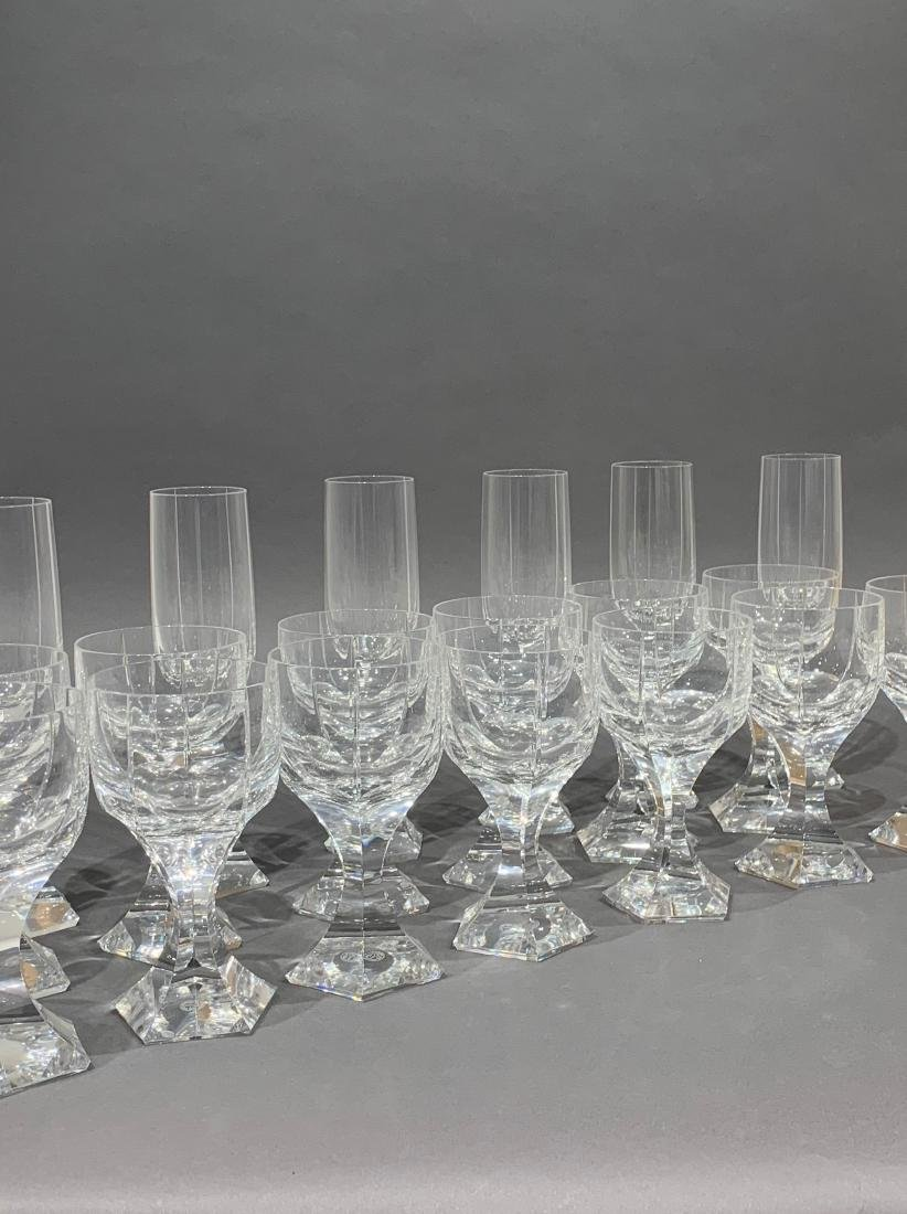 Group of 18 Baccarat Cut Crystal Glasses