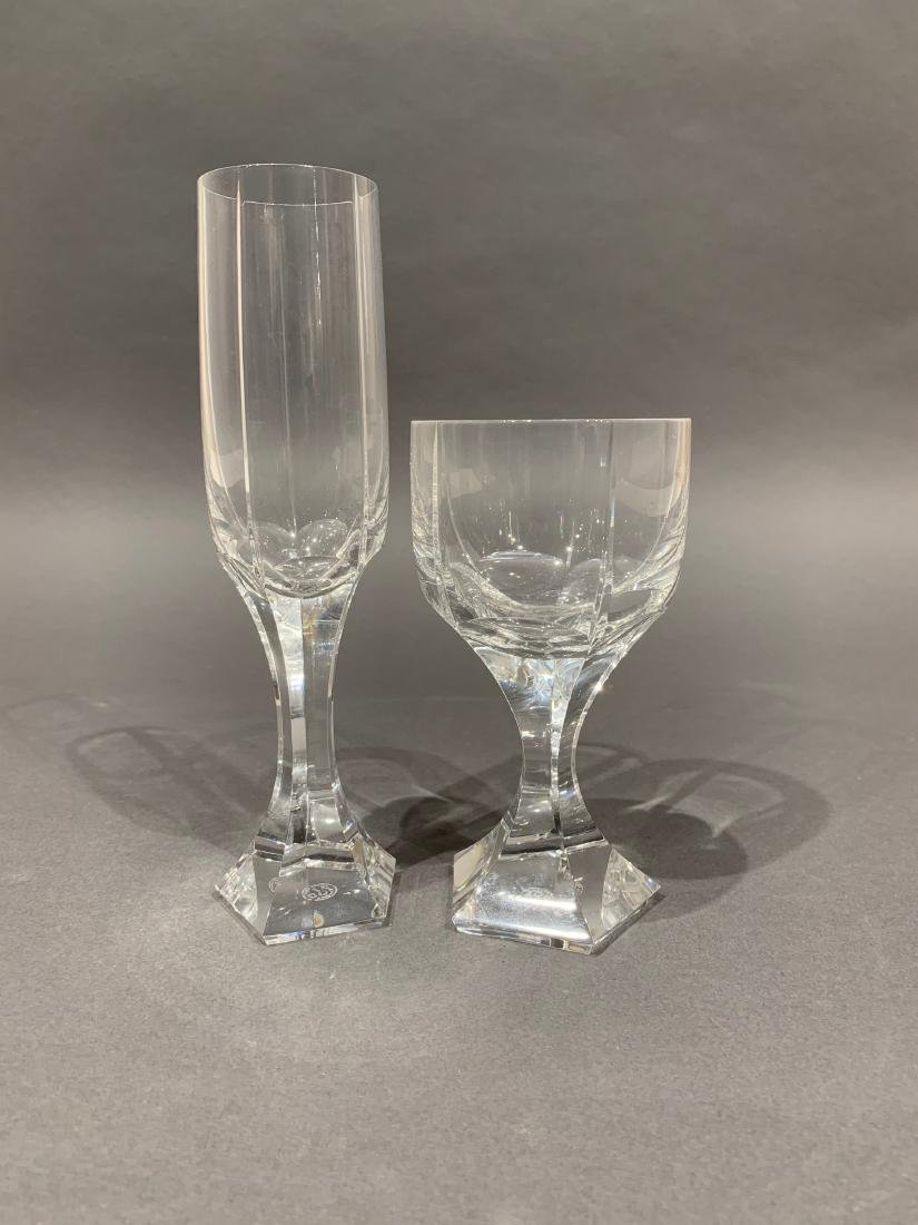 Group of 18 Baccarat Cut Crystal Glasses - 2