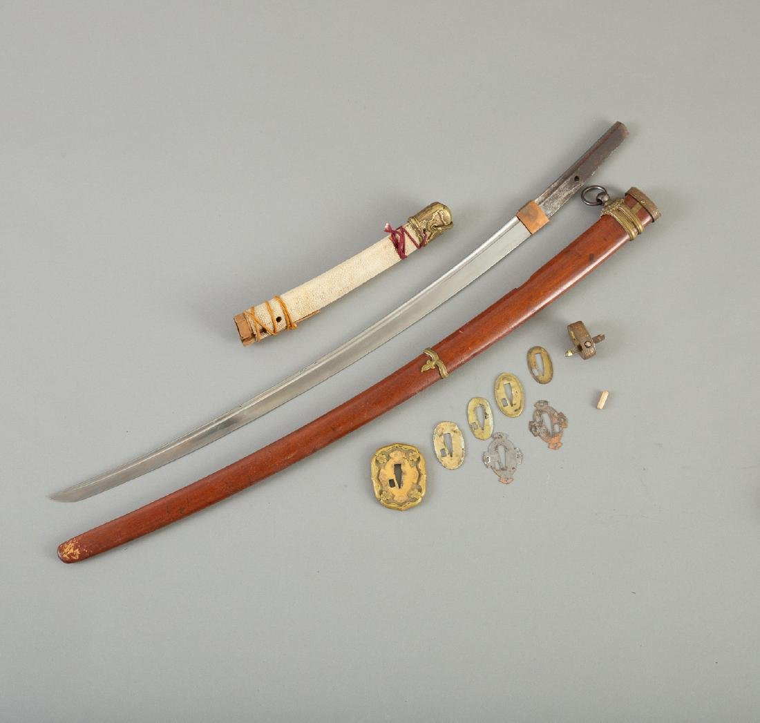 1940s Japanese Sword with Bronze Tsuba