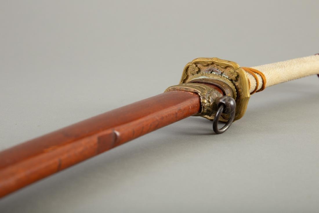 1940s Japanese Sword with Bronze Tsuba - 2