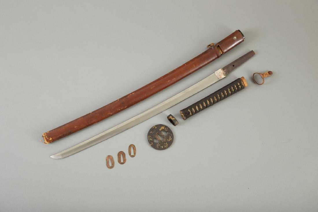 Japanese Sword With Fine Tsuba