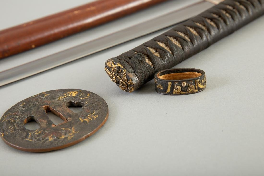 Japanese Sword With Fine Tsuba - 4