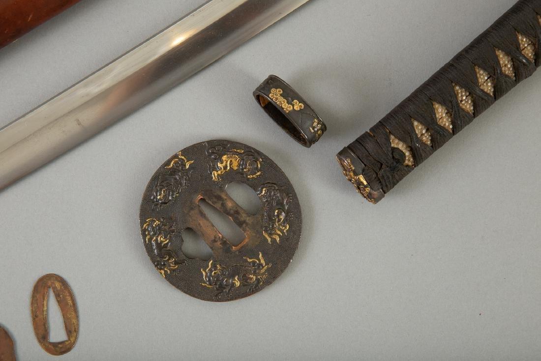 Japanese Sword With Fine Tsuba - 5