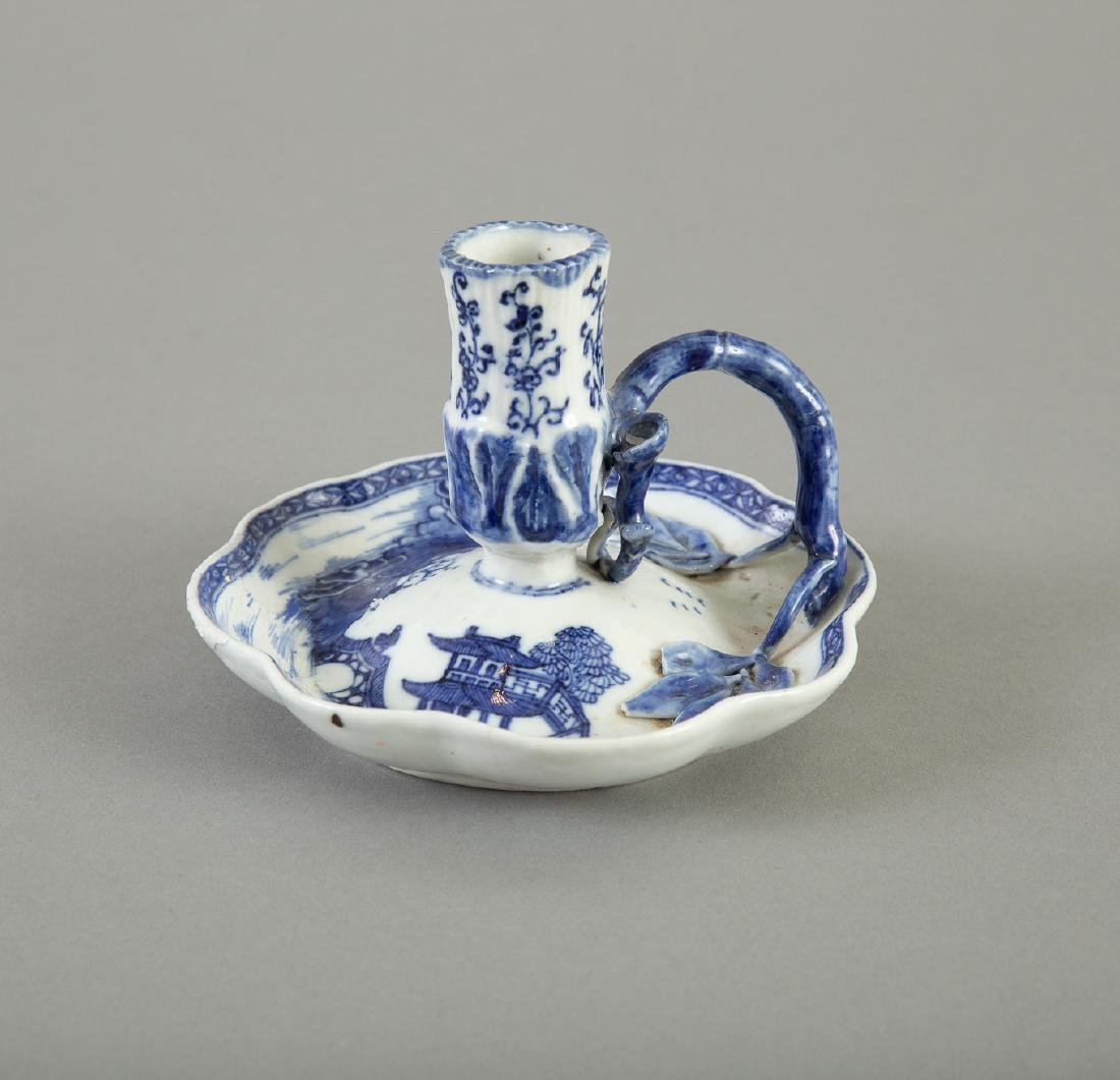 18th c. Chinese Export  Porcelain Candle Holder