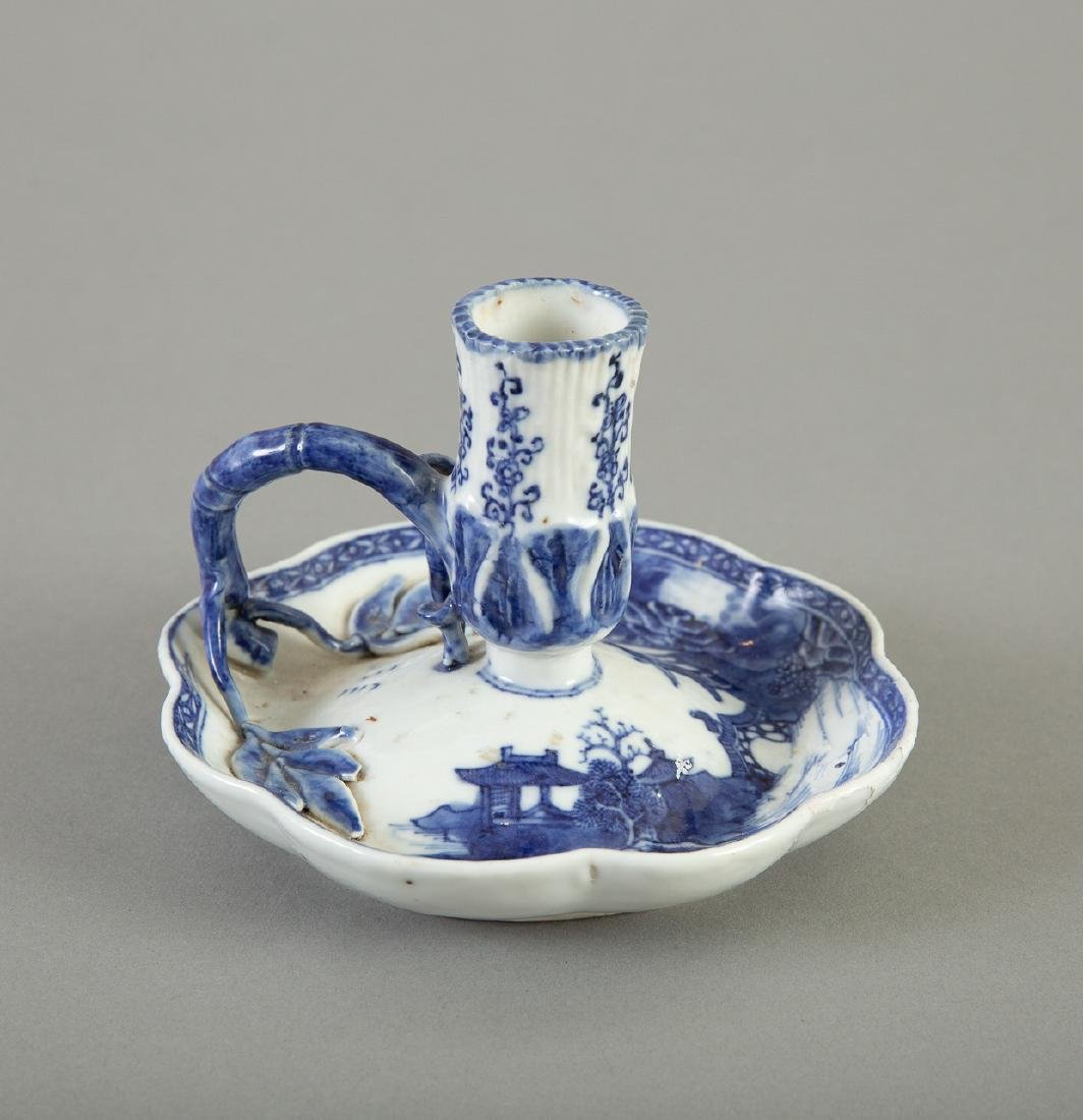 18th c. Chinese Export  Porcelain Candle Holder - 3