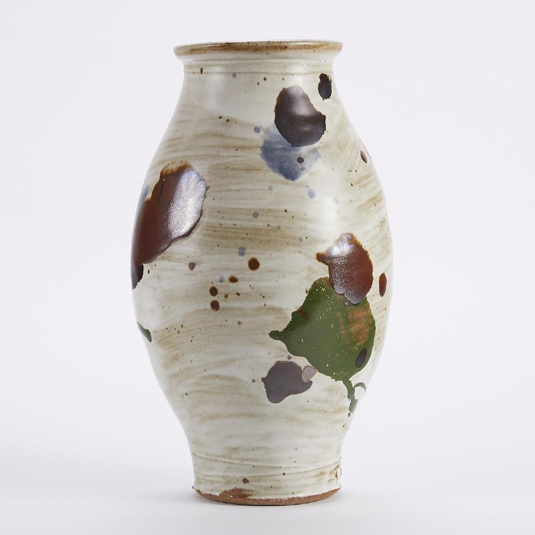 Warren MacKenzie Studio Pottery Clown Pot Vase Ma