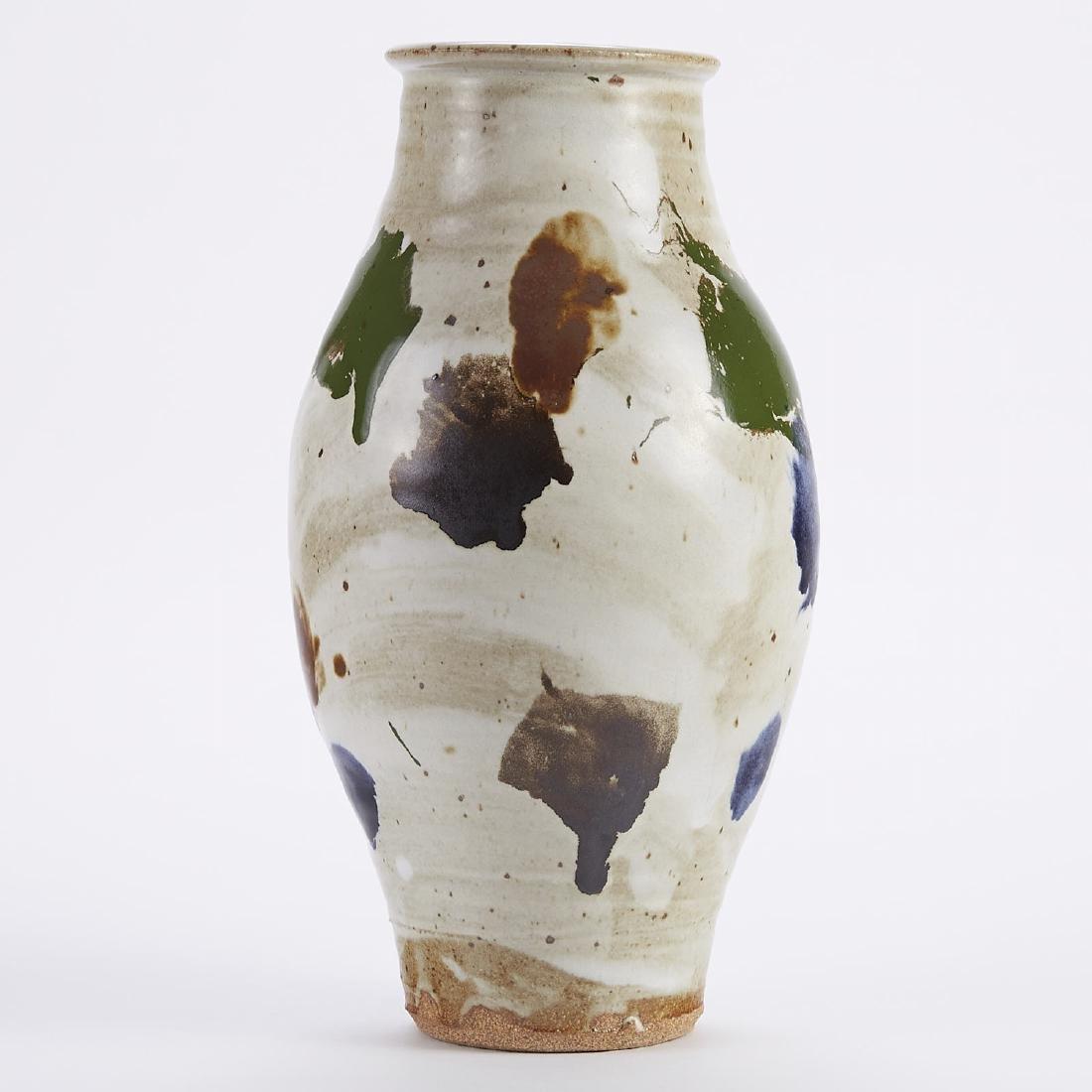 Warren MacKenzie Studio Pottery Clown Pot Vase
