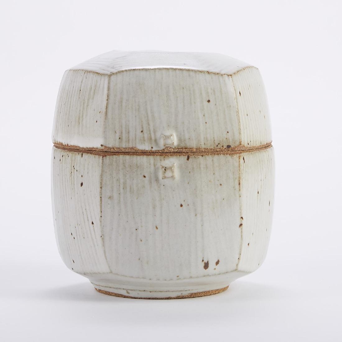 Warren MacKenzie Studio Ceramic Cut-Sided Lidded
