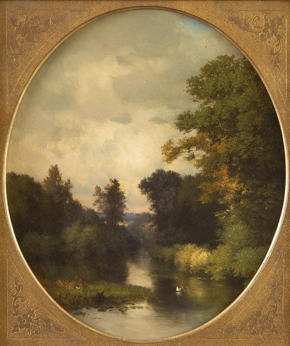 "George Inness ""Solitude"" Oil on Canvas"
