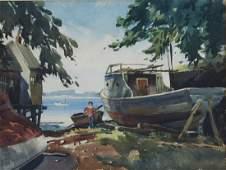 5 Watercolor Paintings by Roy Wilhelm
