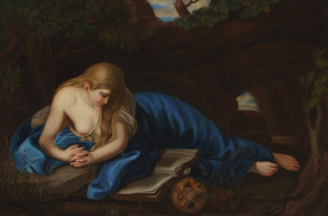 After Batoni Penitent Magdalene Oil on Canvas