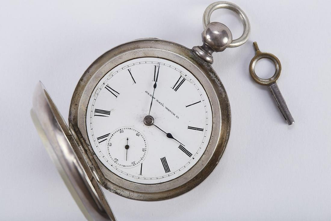 "Elgin ""Coin"" Large Pocket Watch with Key"