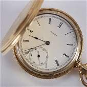 Illinois Pocket Watch w 18K Gold Hunter Case
