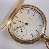 Illinois Pocket Watch w/ 18K Gold Hunter Case