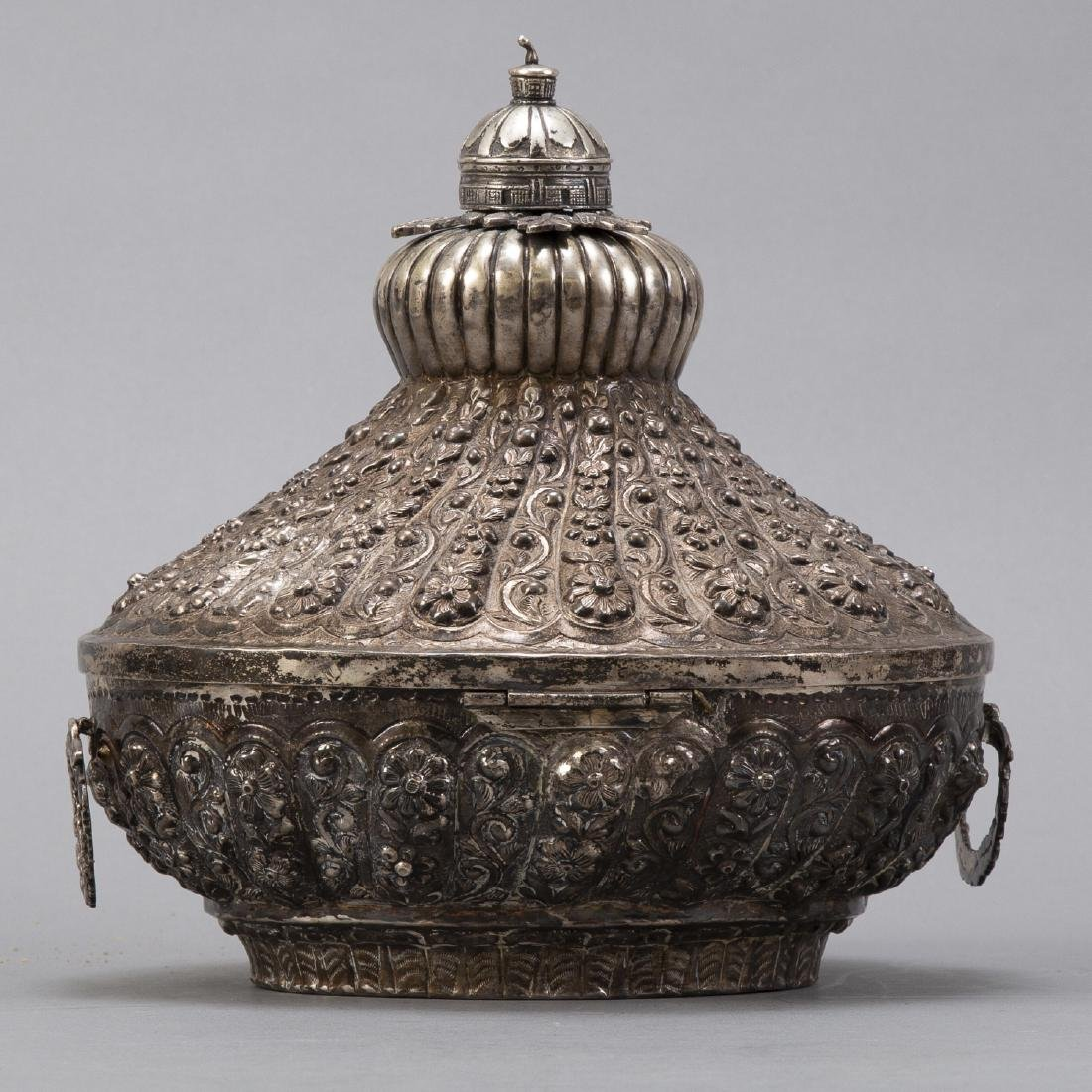 Egyptian 900 Silver Lidded Box