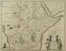 Joan Blaeu Map ca 1690 Aethiopia Superior vel I