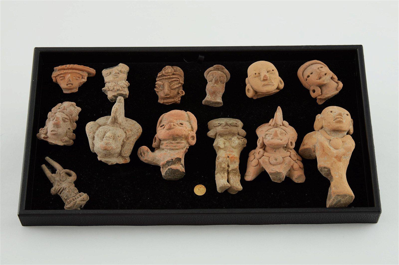 Grp: 13 Huastec Pre-Columbian Pottery Heads