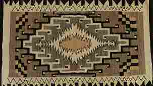 Navajo Weaving Blanket / Rug Two Grey Hills