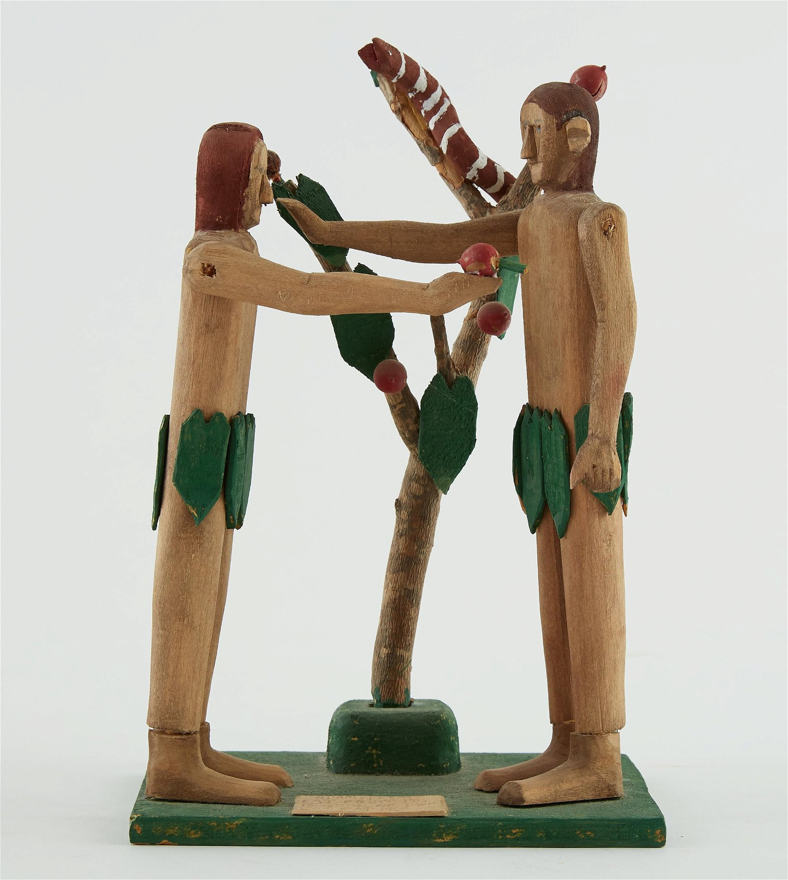 Fred Webster Southern Folk Art Carving Adam and E