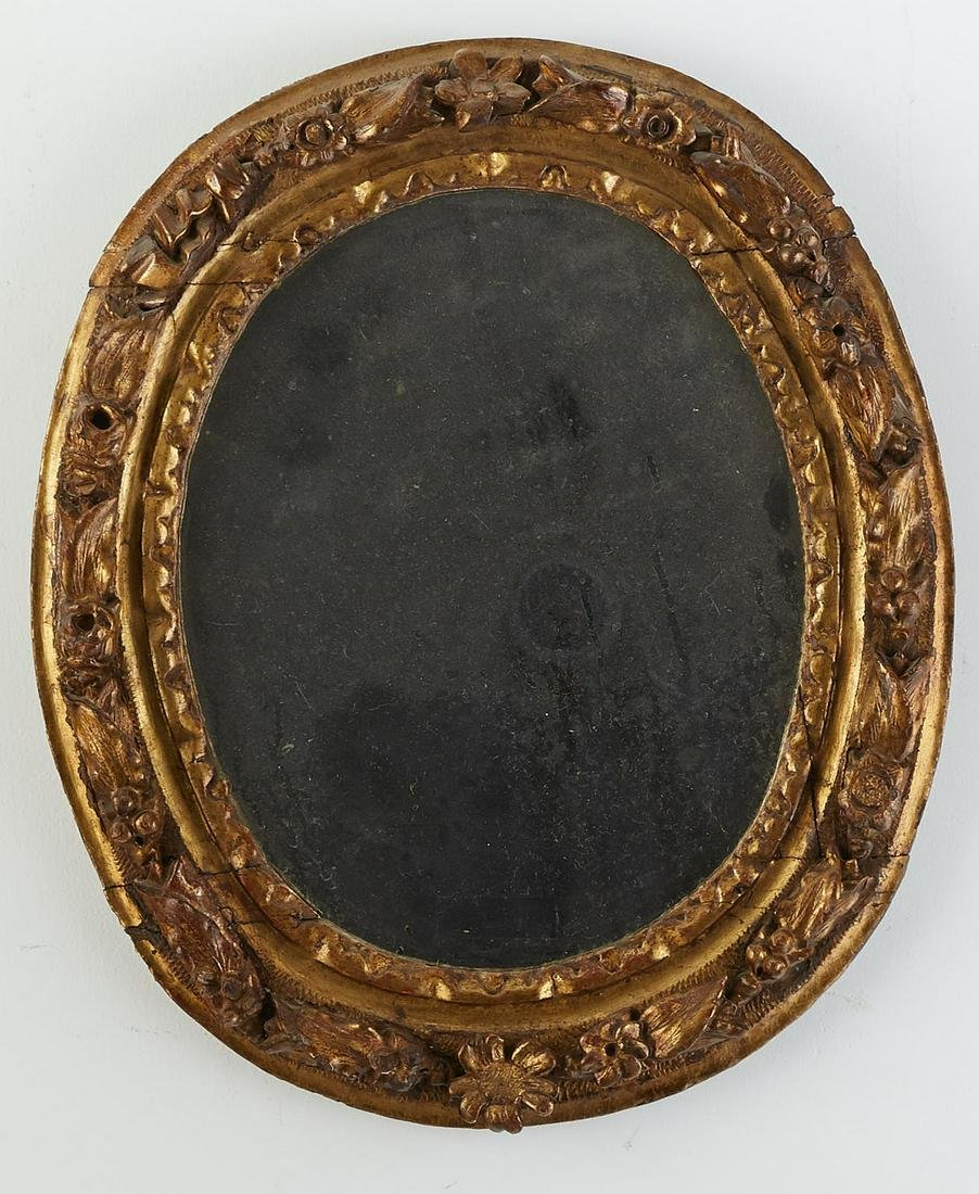 Grp: 2 Early Mirrors with Gilt Frames Spanish Col