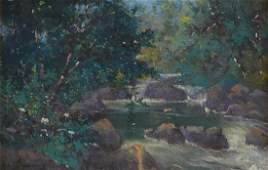 Grp: 3 Paintings Cumming Gingrich Mathews