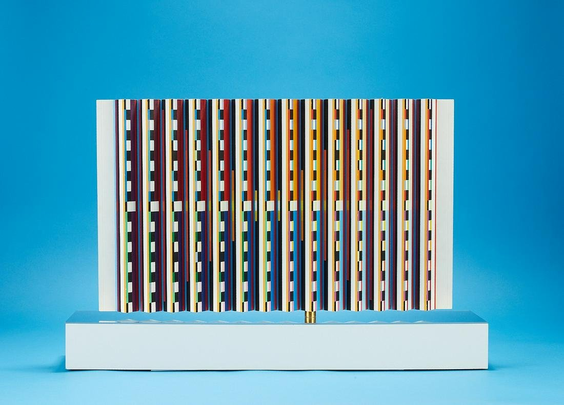Original Yaacov Agam Kinetic Sculpture Painting
