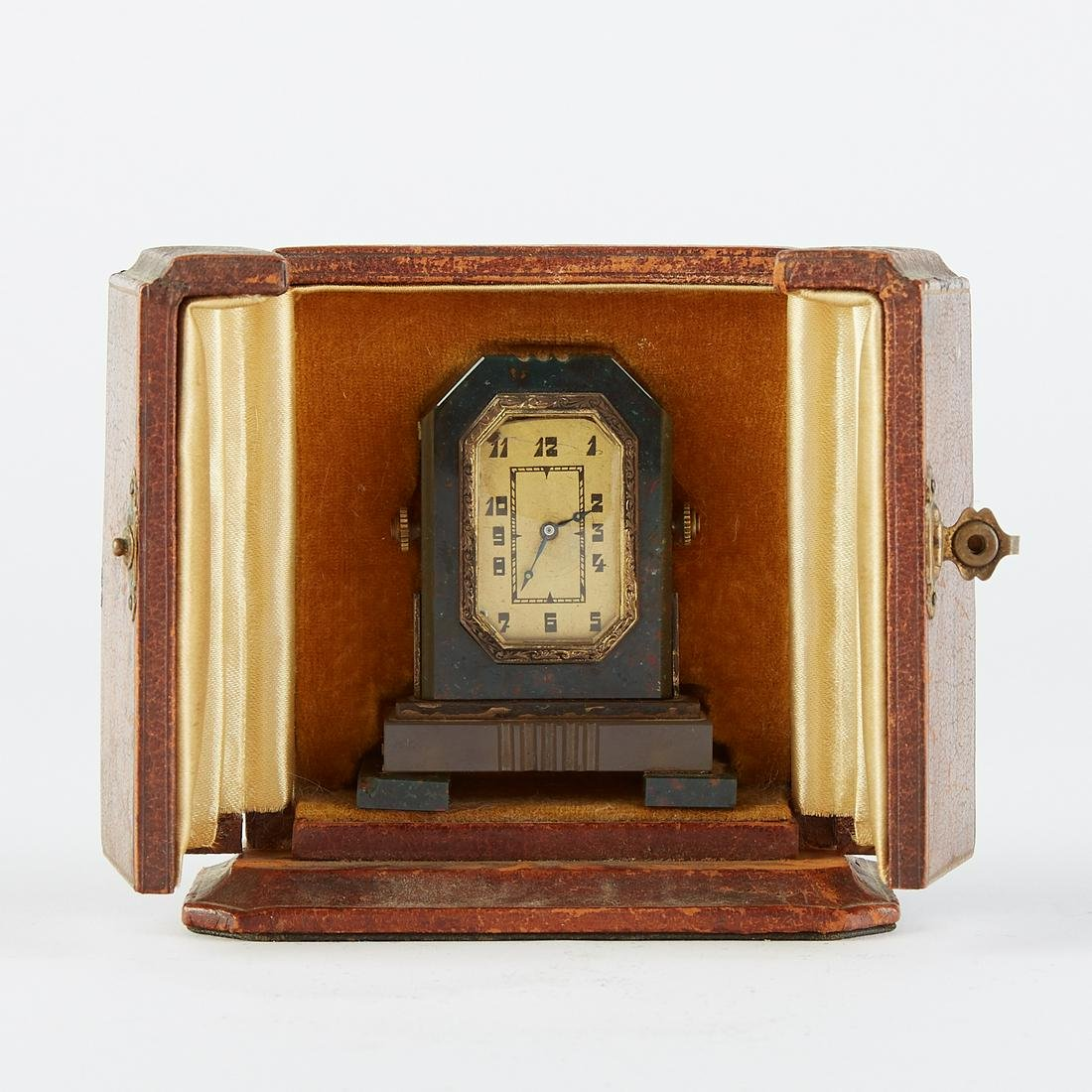 French Art Deco Traveling Clock w/ Original box